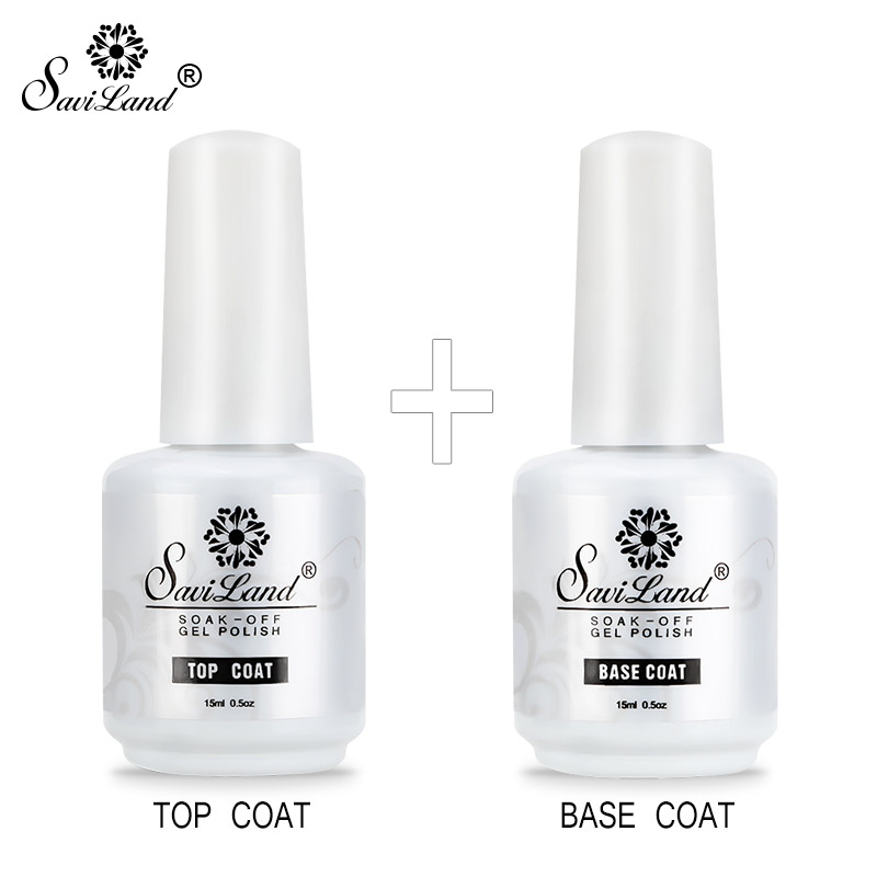 Saviland Primer Top Base Coat UV Gel Nail Polish