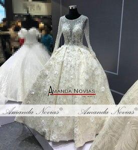 Image 4 - מדהים אמיתי עבודת חתונה שמלה 2021 robe דה soiree