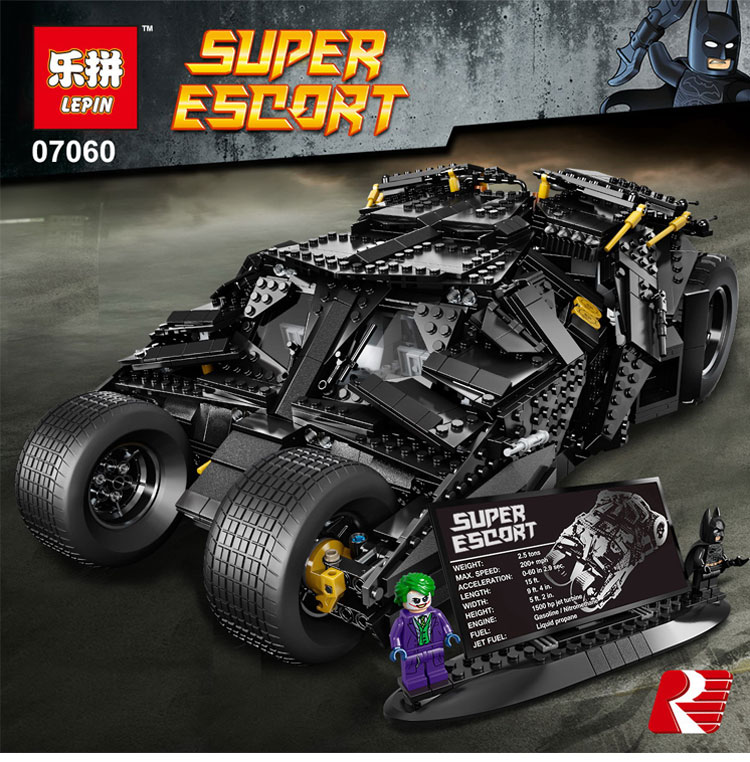LEPIN 07060 Genuine Super Hero Movie Series Batman Armored Chariot legoing 76023 Educational Building Block Brick Boy Toys Gifts lepin 07060 super series heroes movie the batman armored chariot set diy model batmobile building blocks bricks children toys