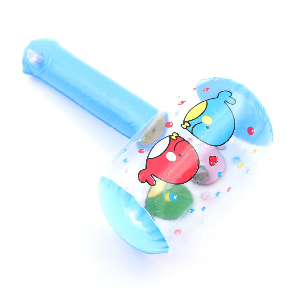1Pcs Cute Cartoon Inflatable Hammer Air Hammer With Bell Random Color Wholesale Kids Children Blow Up Noise Maker Toys