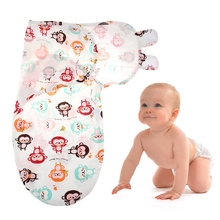 New Arrival High Quality Cute Breathable Cartoon Printed Comfortable and Soft 9 Colors Newborn Babies Wrap Cloth Bath Towel