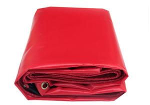 Customize 450g/sqm multiple sizes red outdoor waterproof canvas cover, rain PVC tarp cloth, truck tarpaulin. tent material