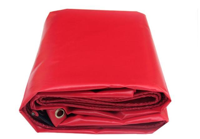 Özelleştirmek 500g/m² çoklu boyutları kırmızı açık su geçirmez tuval kapağı, yağmur PVC branda bez, kamyon branda. Çadır malzemesi