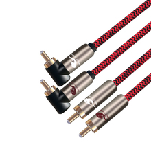 Double RCA Male to 2 Audio Cable For Players CD DVD TV Amplifier Speaker Stereo Sound Systems AV Line 1m 2m 3m 5m