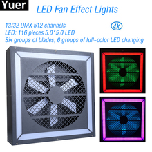 New LED Fan Effect Lights 116 Pieces 5.0*5.0 DMX512 Flashing Strobe Dance Club DJ Disco Party Stage Stroboscope