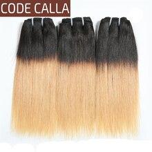 Код Калла Двойной Рисованый Прямой Бразильский Сырой Человеческих Волос Ombre Коричневого Цвета