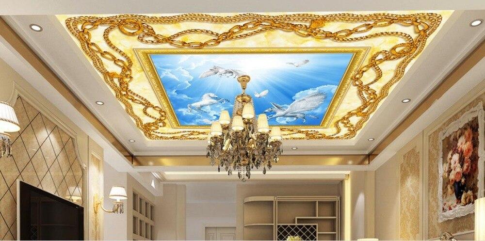 Us 231 58 Offniestandardowe 3d Sufitu Duża ściana Zdjęć Pegasus 3d Sufitowe Malowidła ścienne Dla Pokoju Gościnnego 3d Tapety Sufit Do łazienki W