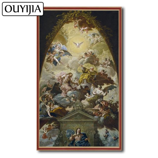 OUYIJIA Oil 5D DIY Religion Angel Heaven Christ Diamond Painting Embroidery  Diamond Cross Stitch Mosaic Rhinestone Decoration b74ce762d085