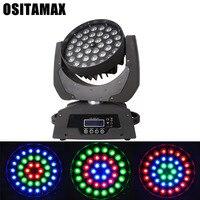 Işıklar ve Aydınlatma'ten Sahne Aydınlatması Efekti'de LED Hareketli Kafa Işık 36x10w 4IN1 RGBW Yakınlaştırma Yıkama Işık Hareketli Kafa DJ Aydınlatma DMX512 LED Lamba disko zoom ışığı