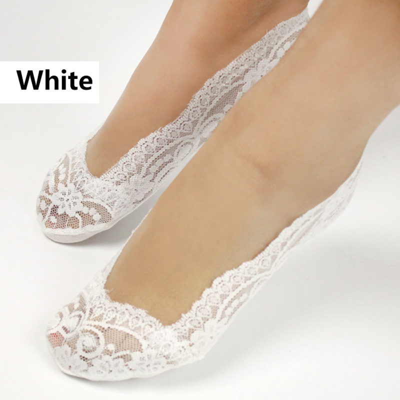 Women's Cotton Lace Ankle Heal Short Low Cute Women Fashion Invisible Skidproof Lace Heal Short Cotton Sock Hot Sales Cut Socks