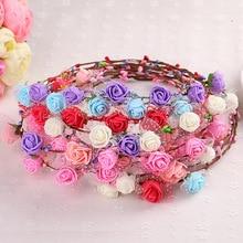 Children Flowers Bridal Headwear Fascinator With Veil Wedding Accessories Women Flower Hats Evening Hair