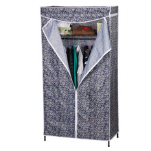 Storage space oxford cloth wardrobe simple hanger stainless steel metal stents durable