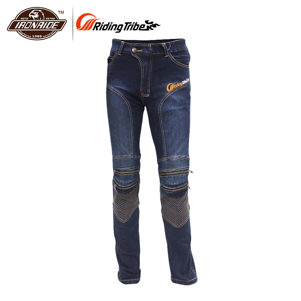 купить Riding Tribe Mens Motorcycle Hip Protector Jeans Motocross Downhill Pants Cotton Motorcycle Riding Anti Fall Jeans Trousers по цене 3979.21 рублей
