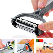 3 In 1 Peeler Fruit Vegetable Cutter Multifunctional 360° Rotating Kitchen Tool