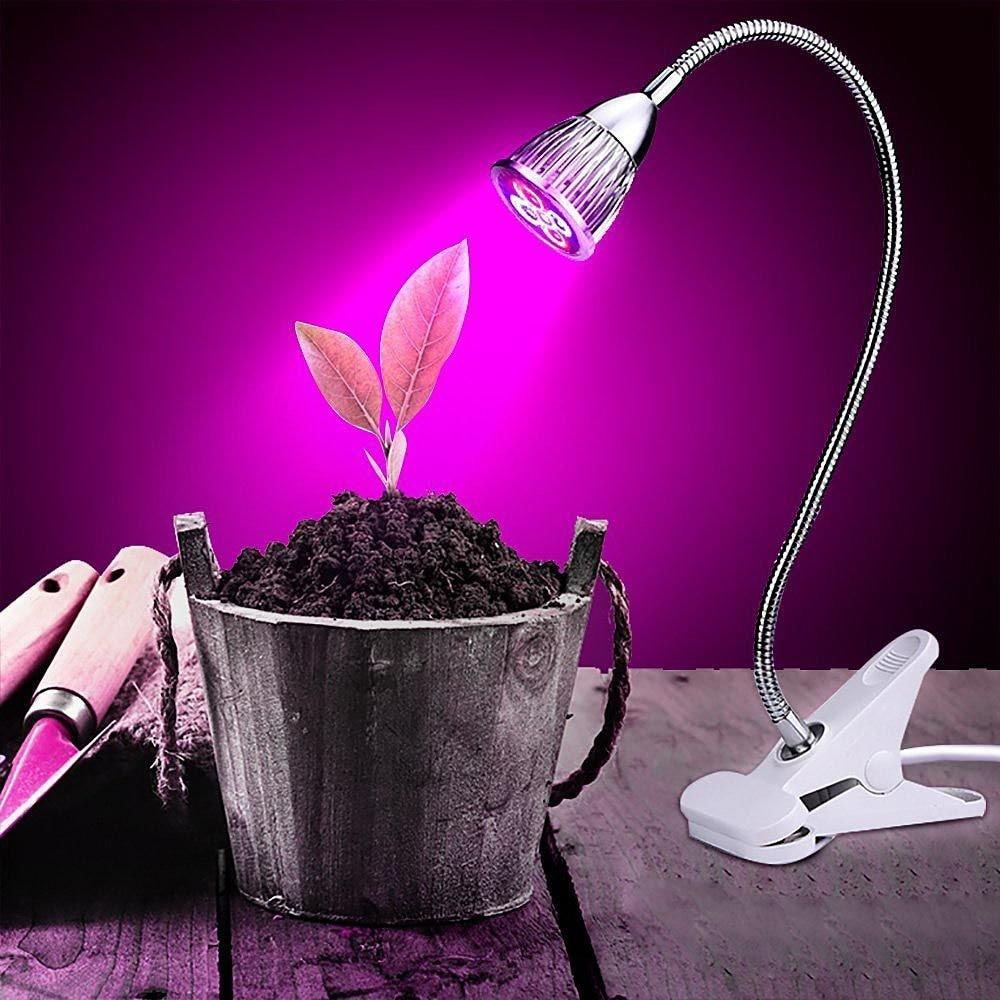 GLW 5W Clip Desk Lamp Led Grow Light Indoor Plant Lamp ...