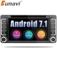 Eunavi 2 Din Android 7,1 автомобиль DVD gps для Toyota hilux, Yaris Vios Camry Corolla Rav4 Prado 2003 2004 2005 2006 2007 2008 2G RAM