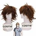 Hitman Reborn HitmanReborn савада Tsunayoshi косплей парик коричневый короткая шероховатый слоистых аниме stylishable потому парик