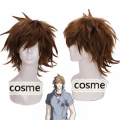 Hitman Reborn HitmanReborn Sawada Tsunayoshi cosplay wig brown short shaggy layered anime stylishable cos wig Free shipping