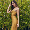 2017 Summer new women sleeveless bandage dress v neck sashes dress sexy bodycon celebrity party yellow dresses vestido wholesale 4