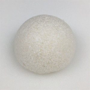 Image 4 - Konnyaku esponja de limpeza facial, ferramenta essencial de limpeza suave para cosméticos de konjac, carvão e bambu, 1 peça
