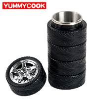 Stainless Steel Tyre Mug Water Bottles Beer Cup Heat Protection Drinkware Kitchen Dining Home Accessories Supplies
