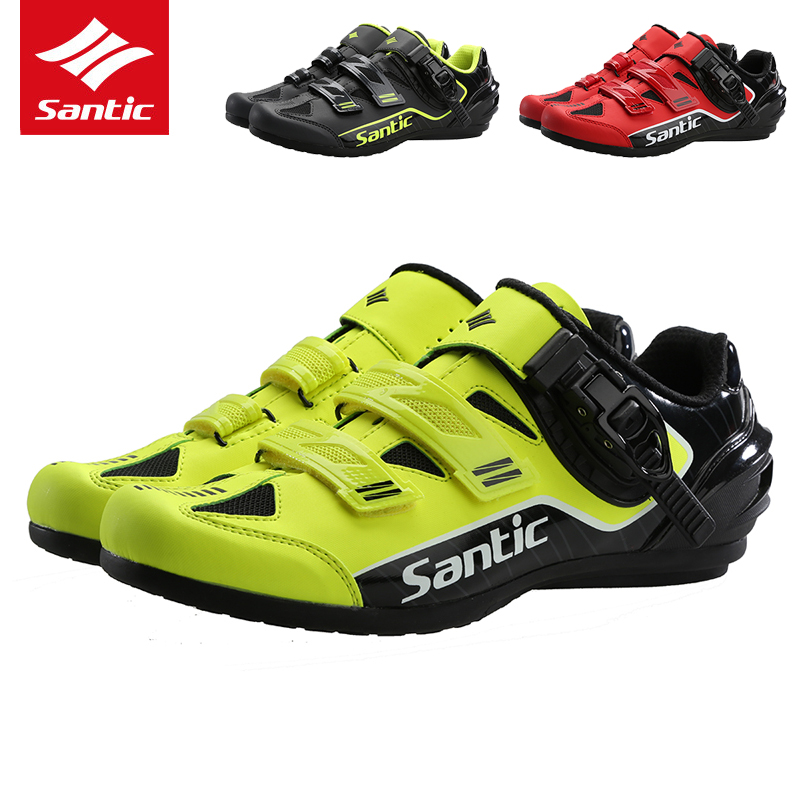Santic Cycling Shoes 2019 Pro Men Unlocked Mountain Road Bike Shoes Anti slip Breathable MTB Bicycle