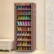 Wielofunkcyjny Oxford tkaniny pyłoszczelne wodoodporne buty szafka buty stojaki 10 warstw 9 siatki Organizer na obuwie półka buty meble
