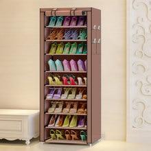 Çok amaçlı Oxford bez toz geçirmez su geçirmez ayakkabı dolabı ayakkabı rafları 10 kat 9 ızgaraları ayakkabı organizatörü raf ayakkabı mobilya