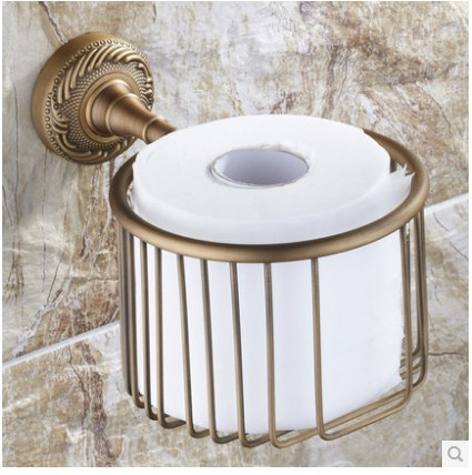 Antique Bronze Bathroom Brass Toilet Paper Holder roll holder paper towel holder Shower Storage apl 6411 12 bathroom classic brass paper holder towel ring with lotus carving base bronze