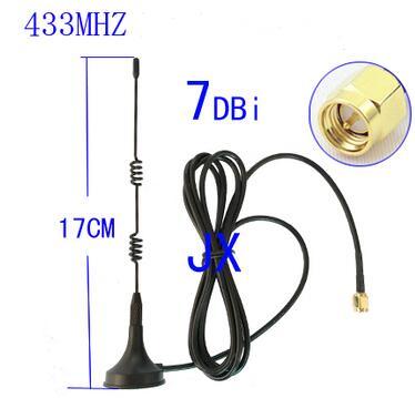 bilder für 433 MHz high gain 7dBi magnet peitschenantenne 433 Mt SMA stecker kabel RG 174 kabel peitsche antenne