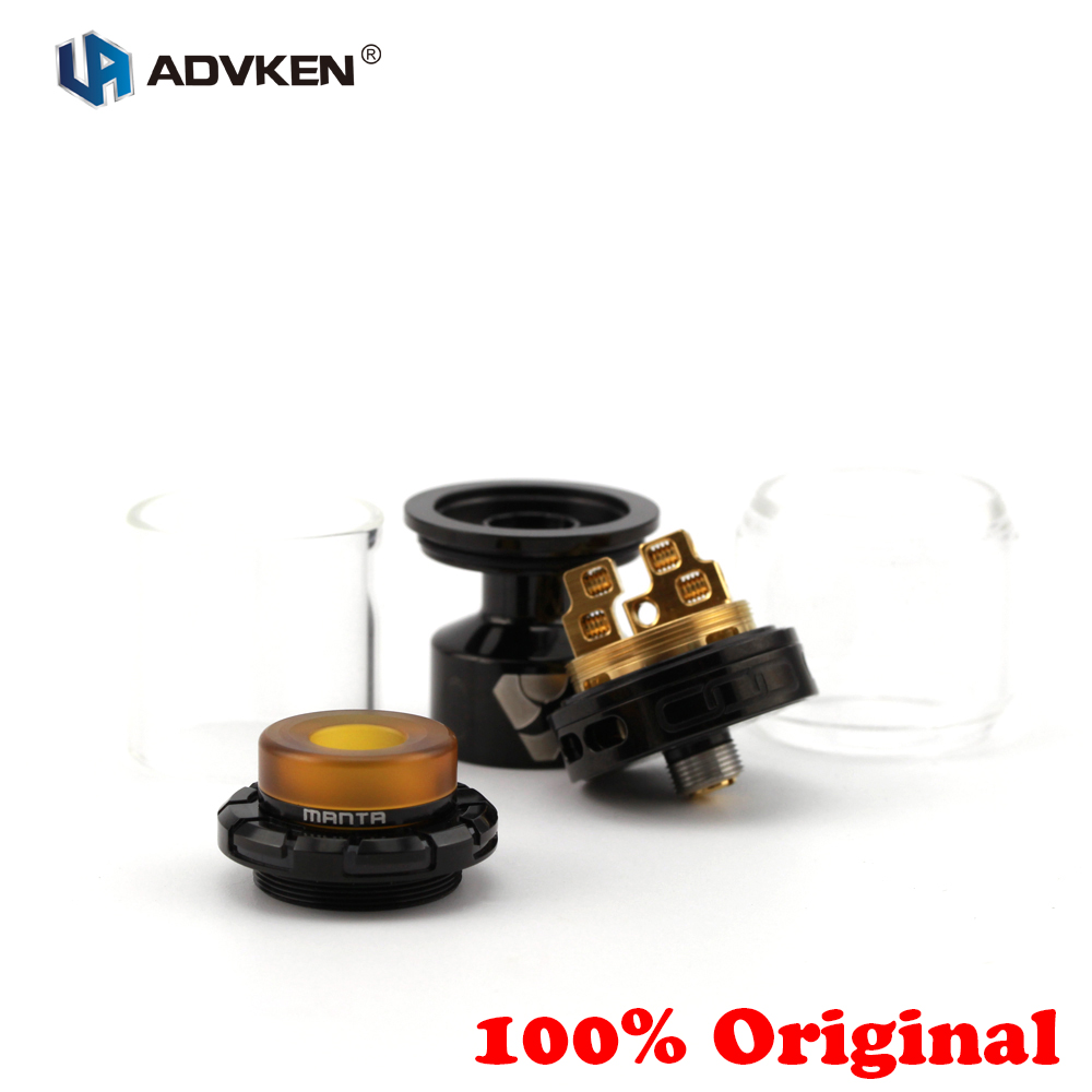100% Original Advken MANTA RTA Tank 5/3.5ml Capacity 510 Rebuildable Drip Atomizer Top Filling 810 Drip Tip Airflow Adjustable