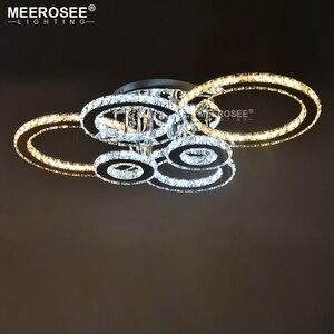 Прозрачный светодиодный светильник с кольцом, светодиодный светильник с люстрами, светодиодный светильник для столовой, гостиной, спальни,...