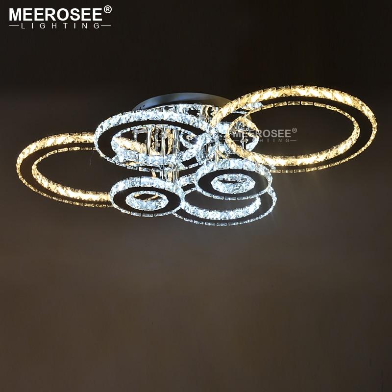 Clear LED Ring Light Fixture LED Chandelier Lustre Lighting Flush Mounted LED Circles Lamp for Dining