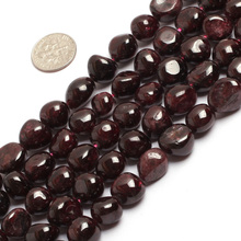 7mm-8mm freefrom red garnet beads natural garnet stone beads loose beads for jewelry making strand 15″ wholesale !