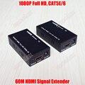 1080 P Full HD 50 м ~ 60 м Передачи HDMI Extender Один Сетевой Кабель 3D CAT5E/6 RJ45 аудио-Видео Сигнал Конвертер Адаптер