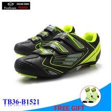 TIEBAO original superstar equitation bicycle shoes road zapatillas hombre sneakers men womens athletic bike shoe racing