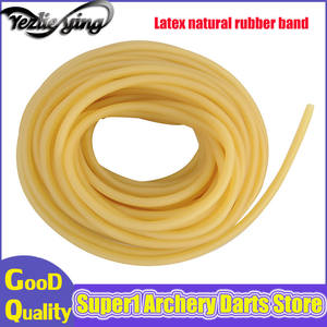 5M Packed Size Natural Latex Rubber Outdoor Shooting Slingshot Rubber Band Catapult Fitness Yoga Bungee Jumping 3mmX5mm