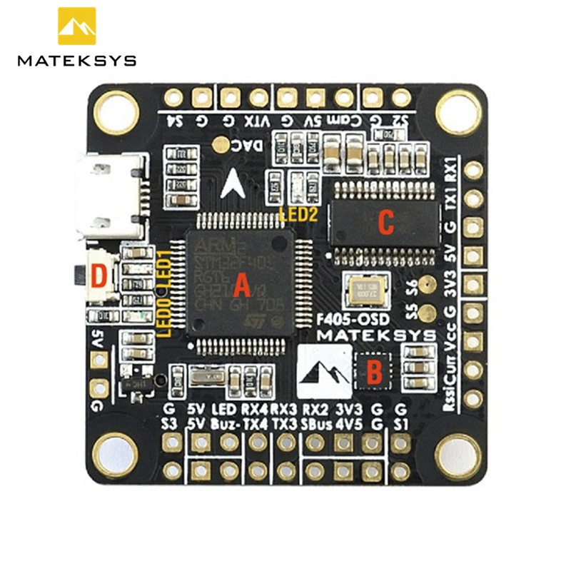 Matek F405-OSD BetaFlight STM32F405 Flight Controller Board Built-in OSD Inverter for SBUS Input VS Betaflight Omnibus F4 Pro betaflight omnibus f4 flight controller built in osd power supply module bec for fpv quadcopter drone accessories fpv aerial pho