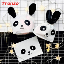 Buy easter panda and get free shipping on aliexpress tronzo 50pcs plastic easter gift bags for kids birthday easter party panda cat candy cookie bags negle Images