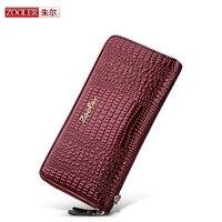 ZOOLER 2017 NEW Genuine Leather Women Wallet Crocodile Pattern Cow Leather Wallet Fashion Women 4 Colour