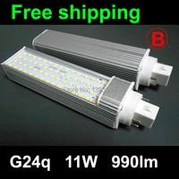 G24 Pl Led Lamp 11W SMD2835 60LEDS Downlight Light Bulb Bombillas 110V 220V Warm White White