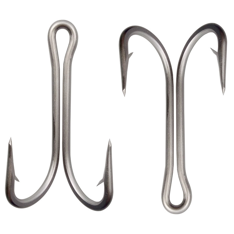 10pcs 7982 stainless steel double fishing hooks big strong for Giant fish hook