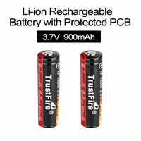 2 uds TrustFire 3,7 V 900mAh 14500 batería recargable de iones de litio baterías de iones de litio con PCB protegida para linternas LED