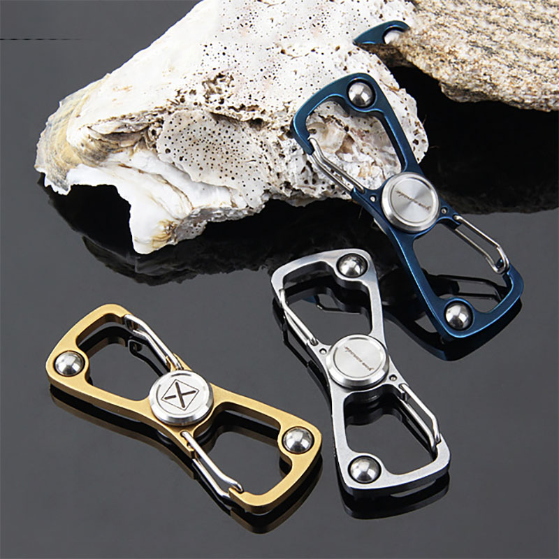 EDC Multifunction Gyro Finger Spinner Fidget Metal Hand Spinner Carabiner Key Chain Autism ADHD Anxiety Stress Relief Focus Toys