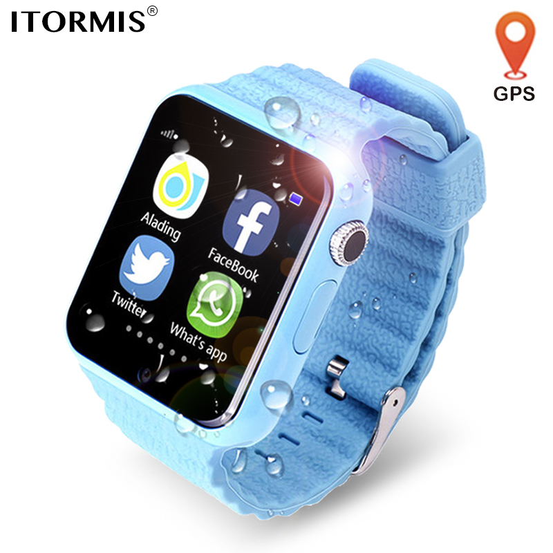 ITORMIS Kids GPS Watch Smart GPS Watch SmartWatch Phone support SIM Card SOS Location Camera WhatsApp Facebook for Android IOS