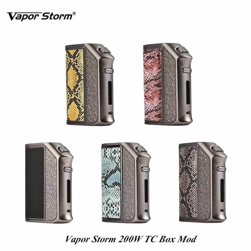 E Cigarette Mod Vapor Storm 200W TC Box Mod Fire Fast Vape TC Mod By 18650 battery e cigs mechanical mode Fit 510 Atomizer vape new original innokin mvp4 qc 100w tc box mod battery 4500mah mvp4 mod by aethon microchip for isub v tank e cigarette 510
