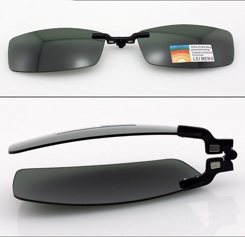 Image 5 - Magnetic Polarized Clip on half rim Eyeglasses Frame Night Driving sunglasses Rx-in Men's Sunglasses from Apparel Accessories