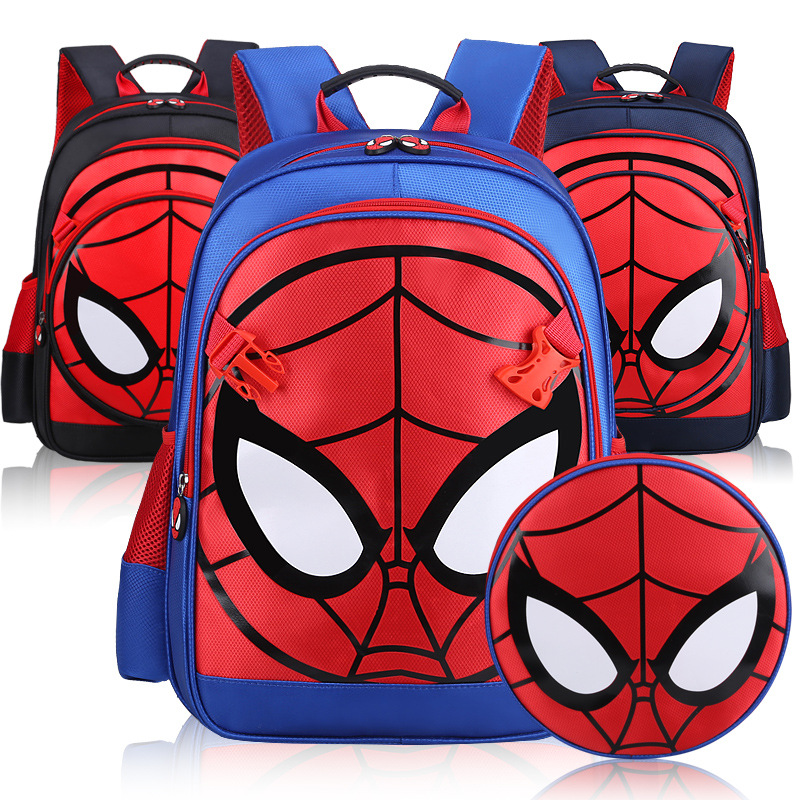 The Avengers 4 Spider Man Composite Bag Reflective strip Detachable Primary Students Boys <font><b>Backpacks</b></font> Children School Kid Mochila image