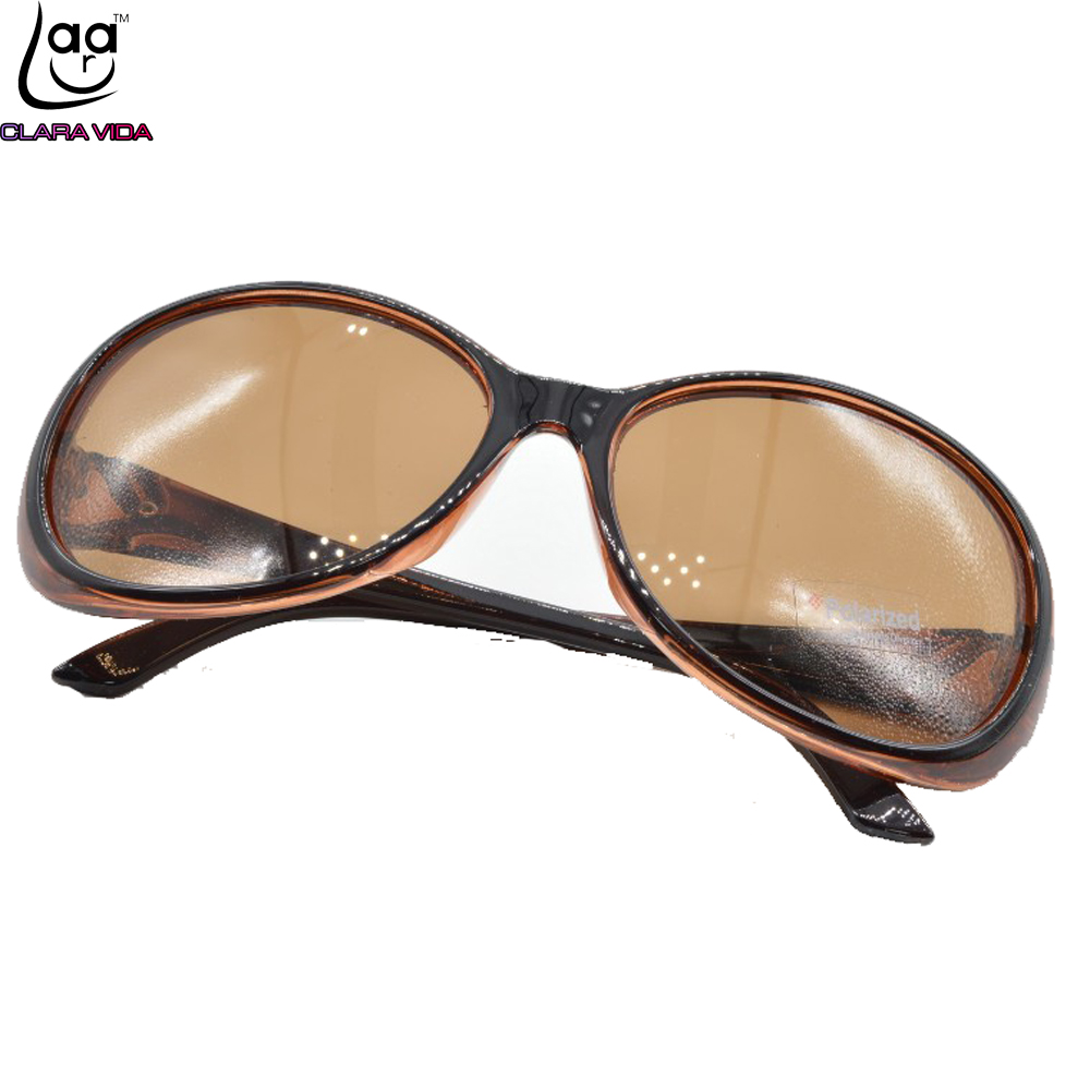 CLASSICAL BUTTERFLY THICK EDGES WOMEN LADIES BROWN Polarized SUNGLASSES  POLAROID POLARISED SHOPPING PARTY SUN GLASSES TAC UV400-in Sunglasses from  Apparel ... 95d4509b99