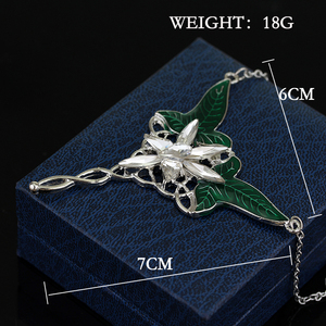 Dongsheng модный длинный Elven кулон в виде листа арвэнь эвенстар кулон ожерелье для мужчин и женщин фильмы Ювелирные изделия